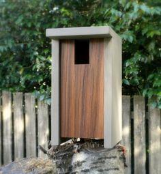 Birdhouse Modern Minimalist The Bird Box by twigandtimber on Etsy
