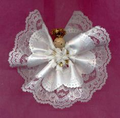 Ribbon Lace Angel - I was excited when I found the instructions for this little angel. I cannot stuff or sew, and this is very simple and easy because of the great step-by-step directions.