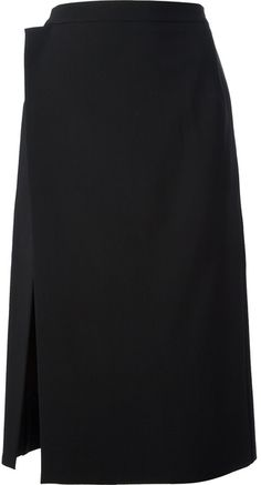 BALENCIAGA Black Asymmetrical Wrap Skirt - Lyst