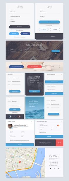 Kauf is a UI Web Kit crafted in Photoshop and designed for help you in your next…
