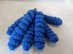 Ties for pony tail, Curly crochet twirls, royal blue, school colour,  elastic hair band,  six twirls, girls pony tail, other colours made, Chunky Crochet, Elastic Hair Bands, School Colors, Ponytail, Royal Blue, Curly, Colours, Horse Tail, Pony Tails