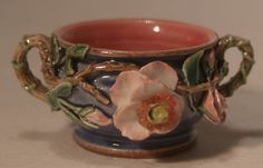 Old Fashion Rose Blue Bowl by Dominique Levy