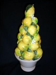 Ceramic lemon tree