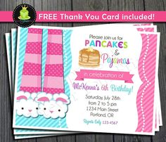 Hey, I found this really awesome Etsy listing at https://www.etsy.com/listing/119790266/pancakes-and-pajamas-invitation-pancakes