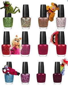 I need that green glitter.  OPI Muppets collection ... sparkly!!!