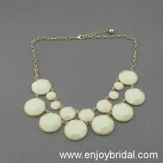 Ivory Bubble Statement Necklace,Holiday Party,Birthday,Bridesmaid Gift,Beaded Jewelry,Wedding Necklace $16.00