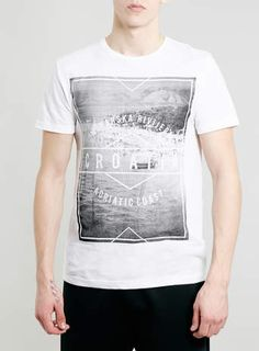 WHITE CROATIA PRINT T-SHIRT - Men's Tees & Tanks - Clothing