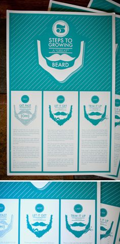themattnovak  United States  12.5x19 Hand printed Poster on French Paper Co. paper This poster was a fun way to honor the winter, the season of the beard. 3 useful steps to growing a pretty legit beard