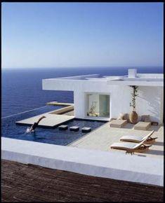 Perfect beach house by MarilenaRizou.com