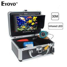 "Eyoyo Original 30m Professional Fish Finder Underwater Fishing Video Camera 7"" Color Monitor 1000TVL HD CAM 12pc Infrared light"