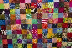 No. 31 Batik Postage Stamp Quilt, 3,136 Pieces. Quilt Front Detail, Studio Juju Quilts, via Flickr