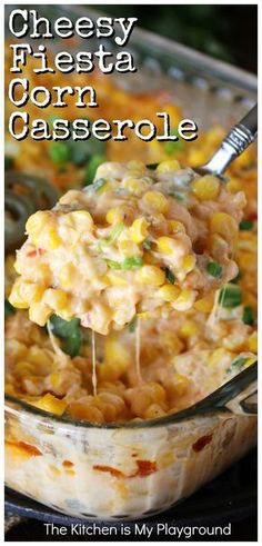 Cheesy Fiesta Corn Casserole