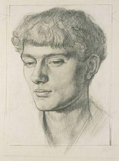 Dora Carrington, Portrait of Mark Gertler on ArtStack #dora-carrington #art