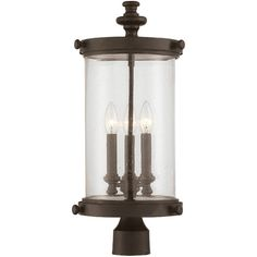 Illuminate patio parties and poolside cocktails with this outdoorpost lantern, the perfect addition to your favorite backyard spaces.