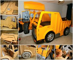 Dump Truck Bed! How awesome! I want this for Brighton for sure