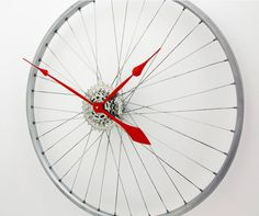 Bicycle Wheel Clock Large Wall Clock Bicycle by treadandpedals