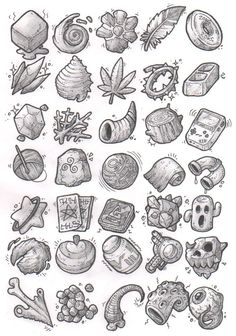 Sketches: Items by KupoGames gear icons buttons equipment magic items game user interface gui ui Create your own roleplaying game material w/ RPG Bard: www.rpgbard.com Writing inspiration for Dungeons and Dragons DND D&D Pathfinder PFRPG Warhammer 40k