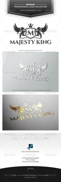 Majesty King V.02 Logo — Transparent PNG #professional #business • Available here → https://graphicriver.net/item/majesty-king-v02-logo/7139410?ref=pxcr