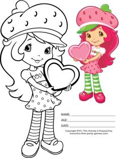 Strawberry Shortcake Girls Kids Coloring Pages Easter Coloring Page… Easter Coloring Pages, Cute Coloring Pages, Coloring Pages For Girls, Mandala Coloring Pages, Coloring For Kids, Coloring Books, Coloring Sheets, Strawberry Shortcake Coloring Pages, Strawberry Shortcake Doll