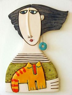 Ceramic Wall Art, Ceramic Clay, Ceramic Pottery, Ceramica Artistica Ideas, Pottery Lessons, Hand Built Pottery, Paperclay, Clay Figures, Clay Projects