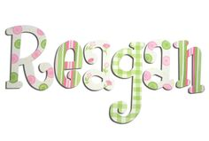 Pink and Green Perfect Combination Wooden Wall Letters  [EAB0088]    $15.99
