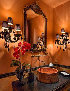 1000 images about bathroom on pinterest burnt orange for Orange and brown bathroom ideas