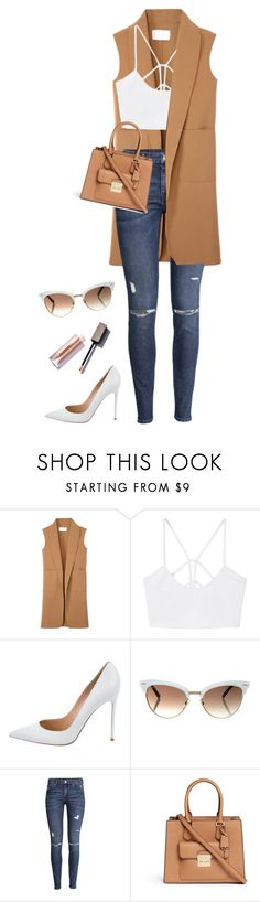 """Untitled #463"" by fofo-moon ❤ liked on Polyvore featuring Alexander Wang, MANGO, Gianvito Rossi, Gucci, H&M and Michael Kors"