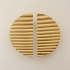 Luxury Gold Solid Bronze Semi Circular Handles, Wardrobe Handle