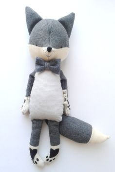 GUSTAV the fox. made-to-order. stuffed toy. eco toy. kids room decorative fox. gift for children.