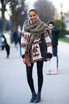 5. #Chunky Knits - 30 #Inspiring Winter #Street Style #Looks ... → #Fashion [ more at http://fashion.allwomenstalk.com ]  #Heeled #Chung #High #Pant #Everyday