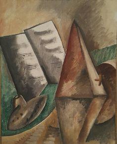 El metrónomo.  Georges Braque.  Galería Nacional de Dinamarca