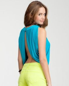 oh so open drape top . bebe