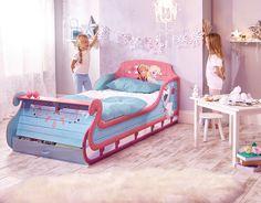 Cama infantil Trineo Frozen 90 x 190 cm ideal para cualquier fan del reino del hielo. #juvenilesoutlet #camasdisney #frozendisney #trineo