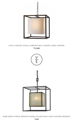 @circalighting Visual Comfort Eric Cohler Caged Lantern $1,049 Vs @homedepot World Imports Hilden Collection 4-Light Hanging Pendant $122