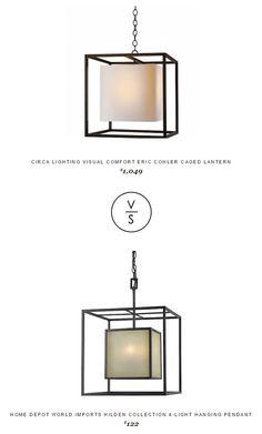 @circalighting Visual Comfort Eric Cohler Caged Lantern $1,049 Vs @homedepot World Imports Hilden Collection 4-Light Hanging Pendant $122