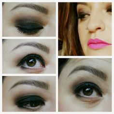 Look Black/brown Smokey eyes and rosa shocking on lips #makeup #trucco #makeupaddict #makeupinspiration #mua #smokey #smokeyeye #lips #rosashocking  www.trucchidilally.com