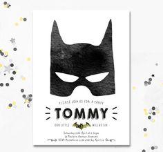 Batman Invitation. Batman Party Invite. Batman by MotifVisuals