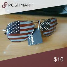 American flag sunglasses American flag aviator shaped sunglasses Fantas-eyes Accessories Glasses
