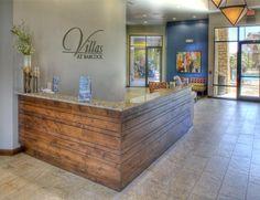 spa reception desk industrial - Google Search