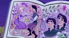 Eugene in Rapunzel's journal Disney Rapunzel, Tangled Rapunzel, Arte Disney, Disney Fan Art, Disney Love, Disney Magic, Rapunzel Cosplay, Princess Rapunzel, Disney Princesses