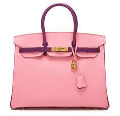 Hermes SO Bi-color Rose Confetti and Anemone Epsom Birkin 35cm Gold Hardware