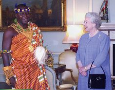 Asantehene, Otumfuo Osei Tutu II with Queen Elisabeth by imknowmadic2, via Flickr