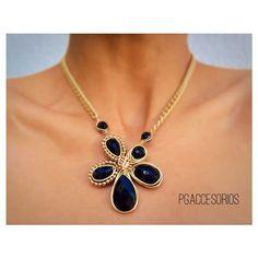 Handmade ✋◼️◾️▪️ #pgaccesorios #chapadeoro #collar #necklace #handmadejewelry #hechoamano #joyeria #black #onix