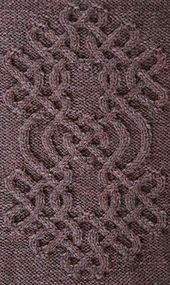 """Knot #63 This is the part of the collection """"Celtic Knots for knitting"""" (250 patterns).  Dimensions of the repeat: 44 stitches 96 rows"""