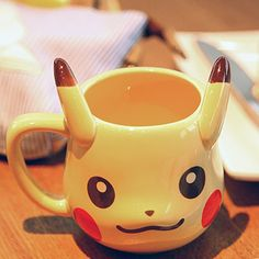 Fashion Cute Cartoon Mug Anime Game Pokemon Pocket Monsters Pikachu Milk Mugs Ceramic Coffee Cup Espresso Cups Size: Capacity: Material: Ceramics