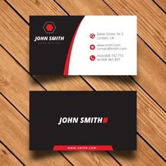 Modern Corporate Business Card Template Free Vector