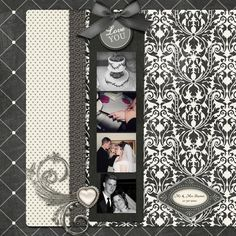 Wedding - Fantastic layering of some great papers, mixed with the perfect compliment of embellishments makes this one great layout!