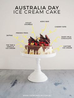 What should you make for Australia Day? An Australia Day Ice Cream Cake, that's what. Made with Gaytimes, Tim Tams, Freddo Frogs, Violet Crumbles & more!