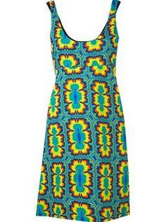 tie dye print shirt dress £228 #Farfetch womensfashion #Jeremy-Scott