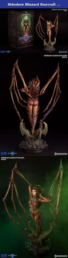 """Sideshow Blizzard Starcraft II Kerrigan: Queen of Blades Polystone Statue. """"I am the Swarm. Armies will be shattered. Worlds will burn....For I am the Queen of Blades."""" Heralded as one of the best video game villains to date, Sideshow Collectibles and the Blizzard Cinematics team are proud to present Kerrigan, the Queen of Blades, from Blizzard Entertainment's immensely popular StarCraft II. A creature consumed by pure rage, Kerrigan has been infested, tortured, and hunted. Now measuring…"""